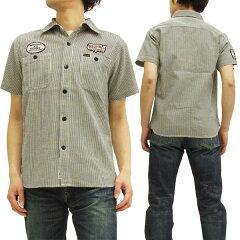 ステュディオ・ダ・ルチザン ワークシャツ 5526 studio d'artisan サッカーストライプ メンズ 半袖シャツ ネイビー 新品
