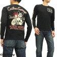 ミッキーマウス 長袖Tシャツ 595510 バイク柄 ローブローナックル メンズ ロンtee ブラック 新品