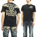 バンソンTシャツNVST-703フライングスターvansonメンズ半袖teeブラック新品