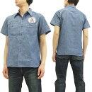 バズリクソンズBR37637スヌーピーワークシャツシャンブレー東洋メンズ半袖シャツ新品