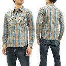 フェローズチェックウェスタンシャツ17W-833CS-CHKメンズウエスタン長袖シャツサックス新品