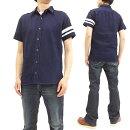 桃太郎ジーンズ06-071インディゴオックスフォード・GTBシャツ出陣メンズ半袖シャツ新品