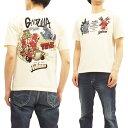 テッドマン ゴジラ Tシャツ TDGZ-100 Tedman x Godzilla エフ商会 メンズ 半袖tee オフ白 新品