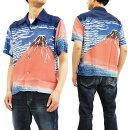 サンサーフSS37917アロハシャツ葛飾北斎凱風快晴赤富士メンズハワイアンシャツ半袖シャツ新品