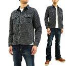 サムライジーンズSSS18-SK01刺し子ワークシャツSamuraiJeansメンズ長袖シャツインディゴ×ホワイト新品