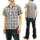 フェローズ19S-720WSS-CHプリントチェック半袖シャツPherrow'sPherrowsメンズ薄手ワークシャツ新品