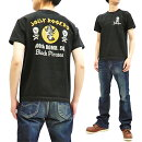 バズリクソンズtシャツbr78167buzzricksonミリタリーjollyrogersメンズスラブ半袖tee新品BuzzRicksonMen'sModernFitShortSleeveT-shirtMilitaryGraphicTeeBR78167