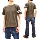 桃太郎ジーンズTシャツMT302S製品染めジンバブエコットン左袖出陣ラインメンズ半袖Tee新品MomotaroJeansT-shirtMen'sShortSleeveGarment-DyedSlubTeewithGTBMT302S