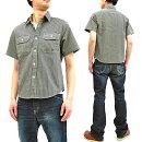 シュガーケーンSC37944ヒッコリーストライプワークシャツSugarCaneメンズ半袖シャツ新品SugarCaneMen'sCasualHickoryStripeWorkShirtShortSleeveShirtSC37944