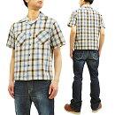 シュガーケーンSC38196オープンシャツ東洋50sトム・ソーヤーチェックメンズ半袖シャツ新品SugarCaneMen's50'sstylePlaidShortSleeveShirtTomSawyerCheck