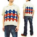 スター・オブ・ハリウッドSH38129アーガイルオープンシャツ50sArgyleメンズ半袖シャツ新品StarofHollywoodMen's50'sstyleShortSleeveShirt1950sArgyleSH38129