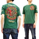 テッドマン Tシャツ TDSS-492 TEDMAN Red Devil M.C. バイク柄 エフ商会 メンズ 半袖tee グリーン 新品