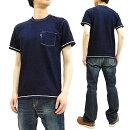 サムライジーンズtシャツsjit-105mインディゴポケットtシャツメンズ無地半袖tee新品SamuraiJeansT-ShirtMen'sShortSleeveIndigoDyedPlainPocketTeeSJIT-105M