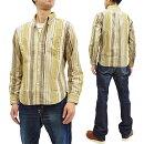 フェローズ長袖シャツ19W-PBD3-STメンズコーデュロイストライプボタンダウンシャツナチュラル新品Pherrow'sMen'sStripedButtonDownShirtCorduroyLongSleeveShirt19W-PBD3-ST