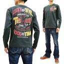 テッドマン 長袖Tシャツ TDLS-332 TEDMAN ロゴデザイン エフ商会 メンズ ロンtee ネイビー 新品