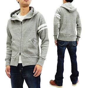 桃太郎ジーンズ 07-045 ワッフル パーカー メンズ GTBジップアップ・サーマルフーディ グレー 新品