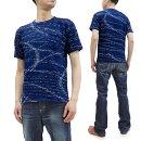 ステュディオ・ダ・ルチザンTシャツ8034メンズKASURI絣かすりインディゴ半袖tee新品ダルチザンダルチStudioD'artisanT-shirtMen'sIndigoKasuriJerseyKnitShortSleeveTee8034MadeinJapan