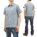 シュガーケーン半袖シャツSC38694メンズインディゴストライプワークシャツ東洋エンタープライズ新品SugarCaneShirtMen'sShortSleeveIndigoVerticalStripedWorkShirtSC38694MadeinJapan
