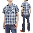 シュガーケーン半袖シャツSC38696東洋エンタープライズメンズスペックブルーチェックワークシャツ新品SugarCanePlaidShirtMen'sSpecDyeCheckedShortSleeveWorkShirtSC38696ToyoEnterprisesMadeinJapan