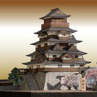 本格的な作りのペーパークラフト上州沼田城