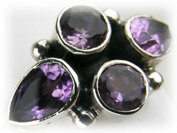 リング アメジスト 紫水晶 シルバー925 ARJ-013-AT-10号