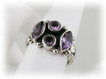 リング アメジスト 紫水晶 アメシスト シルバー925 ARJ-021-AT-12号