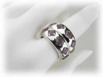 リング アメジスト 紫水晶 アメシスト シルバー925 ARJ-025-AT-12号