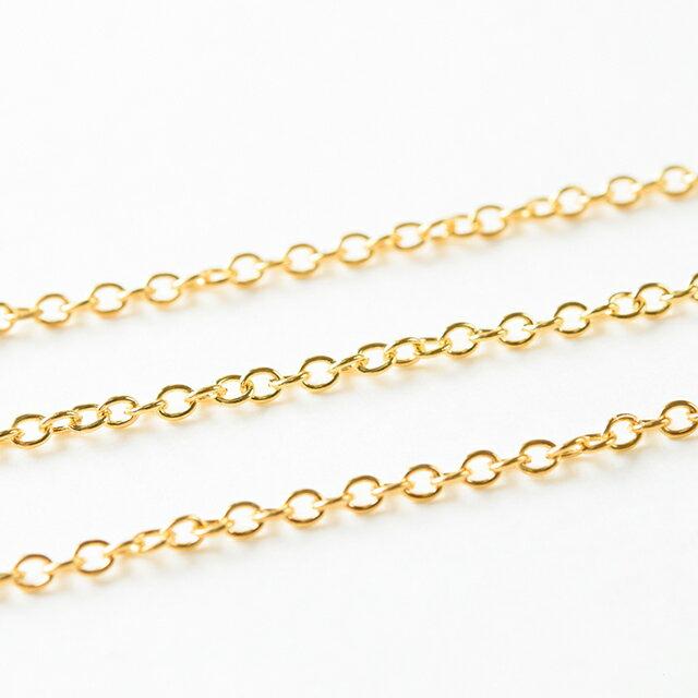 【GW通常営業】あずきチェーン ゴールド 50cm 切り売り ネックレス ブレスレット ピアス パーツ 金具 素材 アクセサリーパーツ
