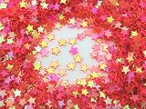 星型 キラキラミニパーツ スター レジン 封入 約1g レッド 赤
