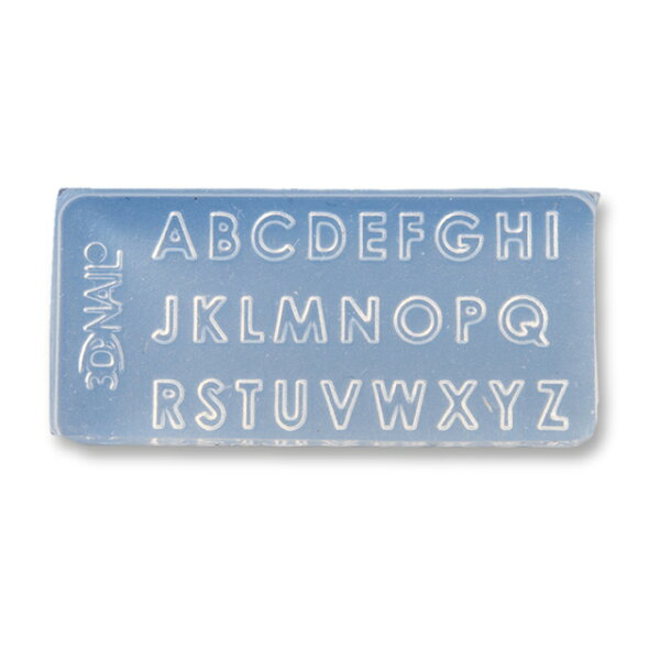 シリコンモールド極小サイズアルファベットAZレジン型ソフトモールドハンドメイドパーツ