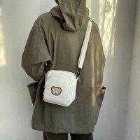 クマさんの帆布カジュアルショルダーバッグ(大きいサイズ・2色)