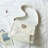 クマさんの大容量四角いメッセンジャーバッグ(全2色)