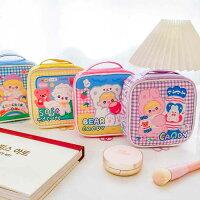 【milkjoy】合皮製!かわいい絵柄の大容量メイクポーチ♪その他小物入れにも!(全4種)