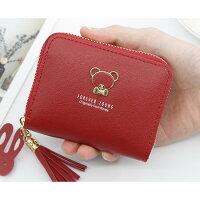 【FOREVERYOUNG】ワンポイントクマさんの手のひらサイズなミニ財布!