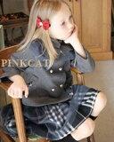 みんな大好きチュールスカートがぐっとお姉さんぽくなりました!愛され柄のタータンスカートにグレーのチュールレースを重ねてガーリーフォーマルスカート