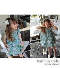 【Roraスビーワンピース(2color)】夏girlのお出かけはレトロキュートなひまわり柄コットンドレスで♪