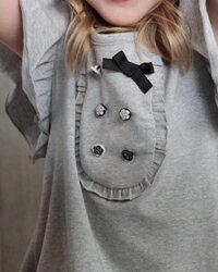 子供服ワンピース夏CB5【Roraシャーエワンピース】ライトなフォッググレーが涼しげなpetitフリルワンピース♪