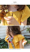 バックスタイルがとても可愛い子供夏トップス