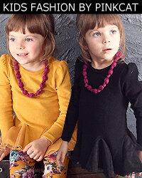 ブラック、マスタードの大人っぽいシックな色が素敵な子供服チュニックワンピース