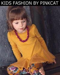 女の子らしいスカラップ風フリルがとても可愛い子供服ワンピース