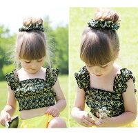 フレアタイプのスカートが可愛い子供水着