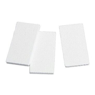 装飾パーツ ウッドチップ 長方形 23mm×12mm ホワイト(10個)/ ゆめかわ 木製 木材 四角 しかく 長方形 白 装飾パーツ デコパーツ 貼り付け ハンドメイド材料 結婚式飾り【ゆうパケット対応】