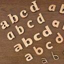 自社工房木製切り抜き文字(アルファベット小文字)2cm 厚さ約6mm ...