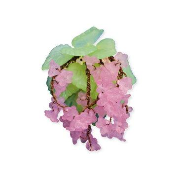 【ブローチ花図鑑】しだれ桜お花のビーズキット