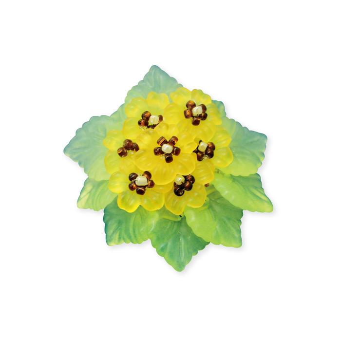 【ブローチ花図鑑】ひまわりお花のビーズキット
