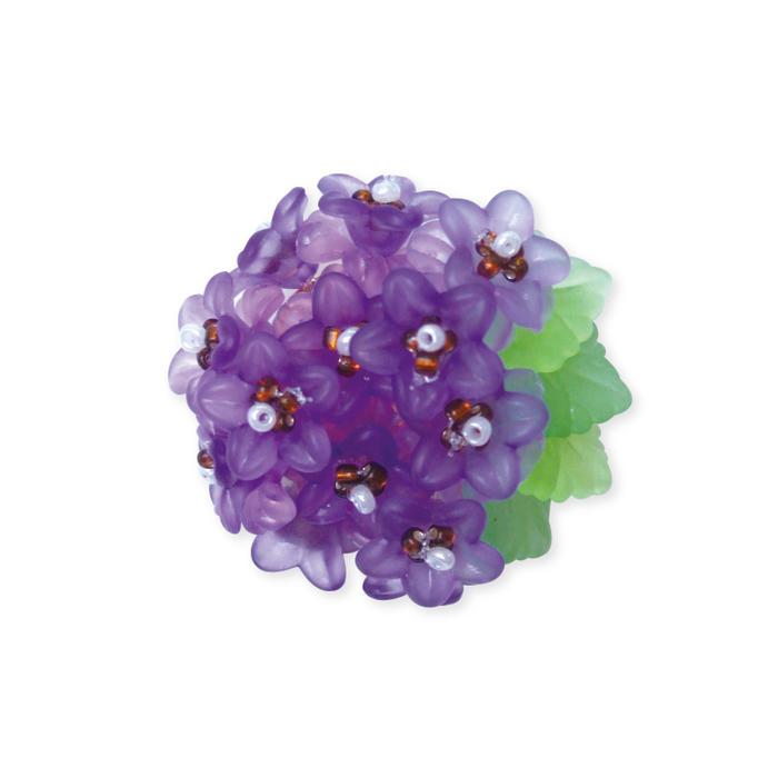 【ブローチ花図鑑】桔梗(ききょう)お花のビーズキット