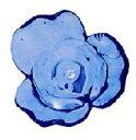【アクリルビーズ】 花型 ブルー お徳用パック