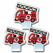 【名札付けワッペン】 消防車