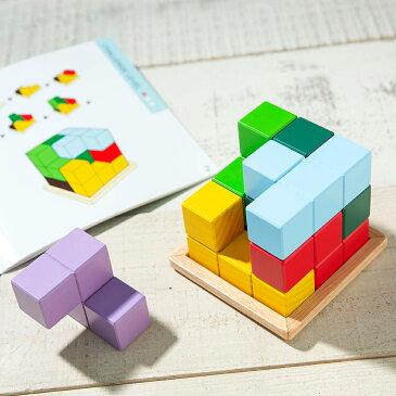 Little Genius PUZZLE パズル 木製 女の子 男の子 立体パズル お誕生日プレゼント 知育玩具 2歳 3歳 エドインター