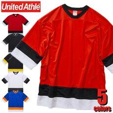 5935-014.1オンスドライホッケーTシャツUnitedAthleユナイテッドアスレビッグシルエットスポーツカジュアルストリートダンスチームイベント